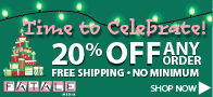20% off Holiday pricing and free shipping